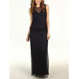 Juicy Couture retro black lace maxi dress